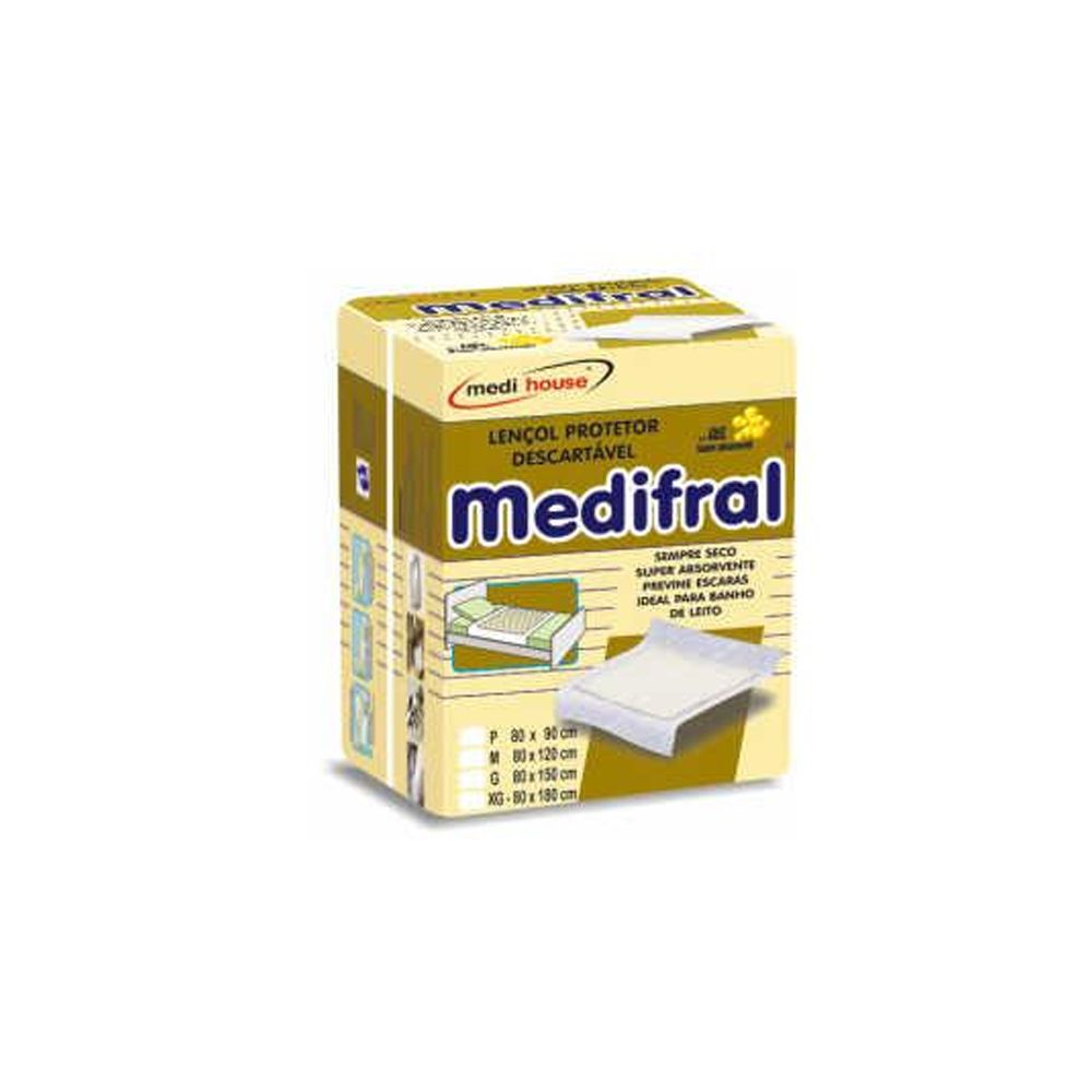 Lençol Descartável Medifral Plus G 6un Medi House
