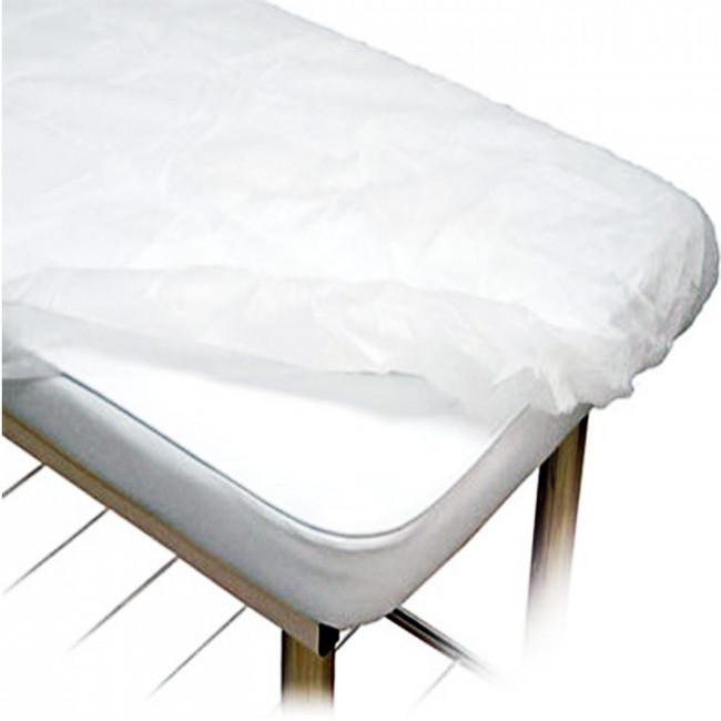 Lençol Descartável TNT Com Elástico Soft 2,00x0,90m Branco 10un Ana Dona