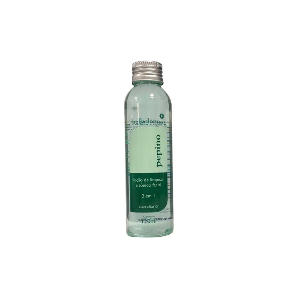 Loção de Limpeza e Tonico Facial Pepino 120ml Belladonna