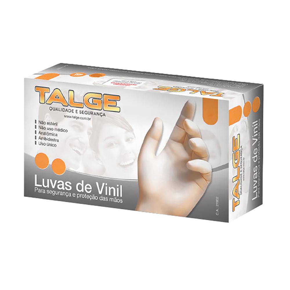 Luva Vinil Com Pó M 100un Talge- 200 unidades