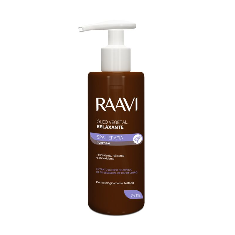 Óleo Vegetal Relaxante 250ml Raavi
