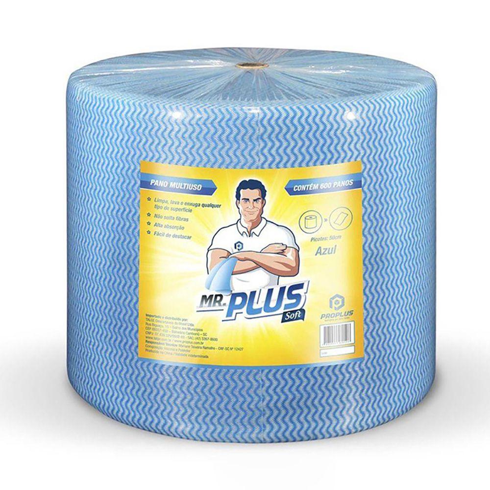 Pano Multiuso Mr. Plus Top Azul 30cmx300m Talge