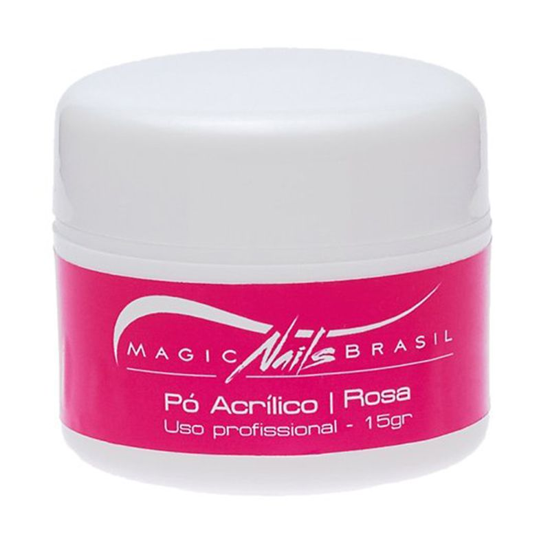 Pó Acrílico Rosa 15g Magic Nails