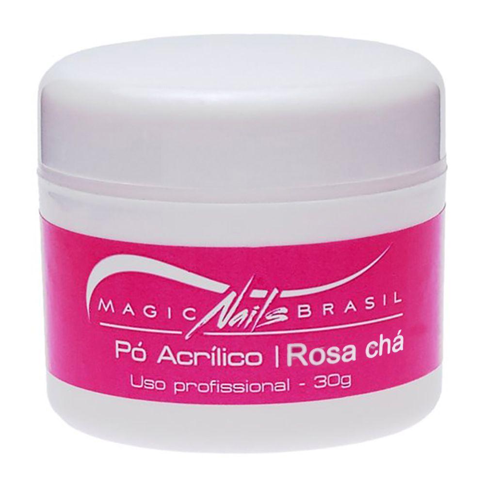 Pó Acrílico Rosa Chá 30g Magic Nails
