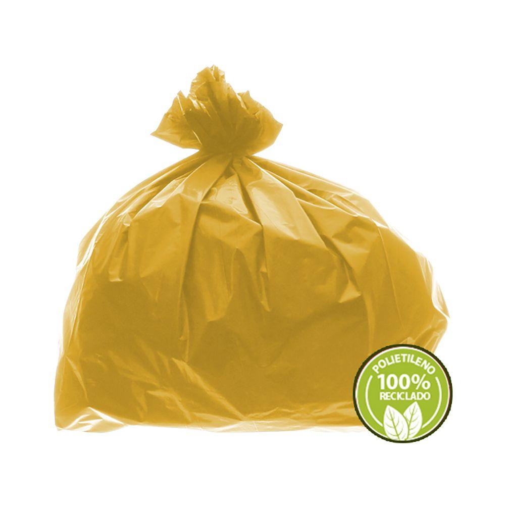 Saco de Lixo 0,025mm 100 Litros Amarelo 100un