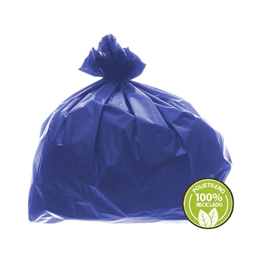 Saco de Lixo 0,025mm 100 Litros Azul 100un