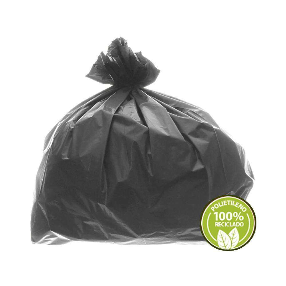 Saco de Lixo 0,025mm 40 Litros Cinza 100un