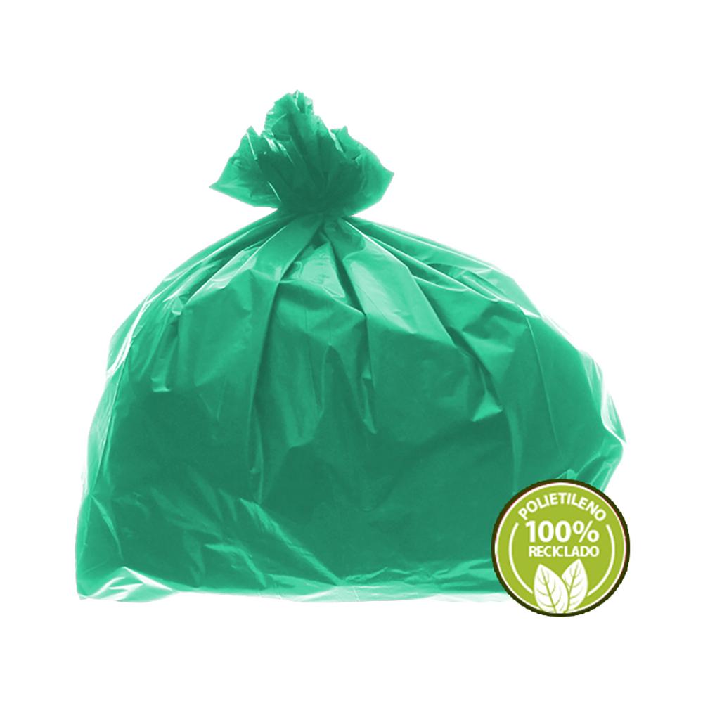 Saco de Lixo 0,025mm 60 Litros Verde 100un