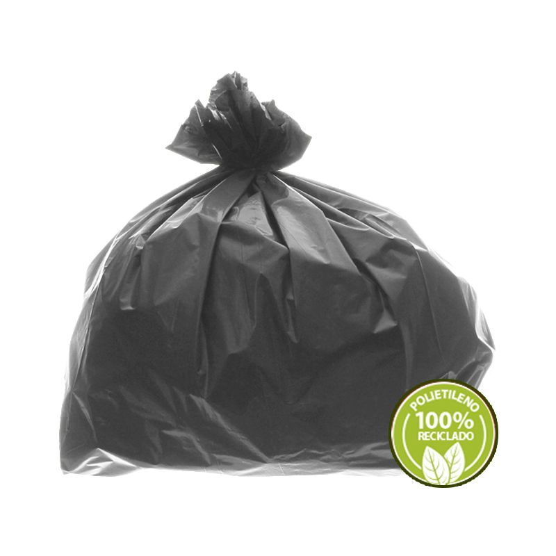 Saco de Lixo 0,025mm 100 Litros Cinza 100un