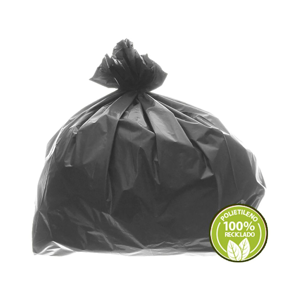 Saco De Lixo 100L Cinza 0,025mm 100un EmbalacFlex