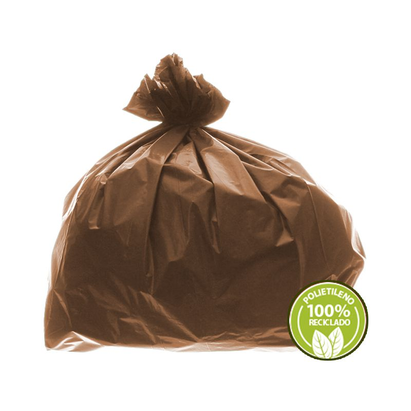 Saco de Lixo 0,025mm 40 Litros Marrom 100un