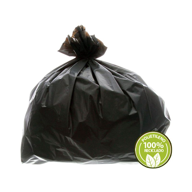 Saco De Lixo 40 Litros Preto 0,025mm 100 Unidades EmbalacFlex