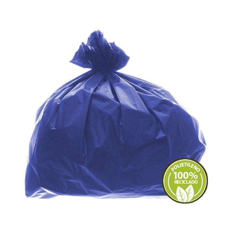 Saco de Lixo 0,025mm 60 Litros Azul 100un