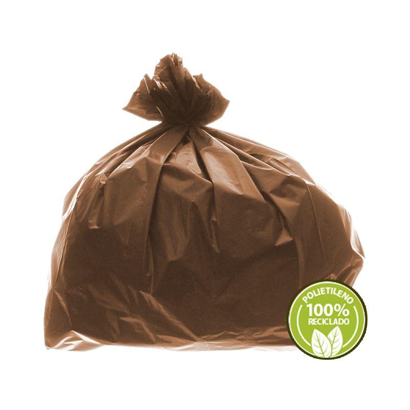 Saco de Lixo 0,025mm 60 Litros Marrom 100un