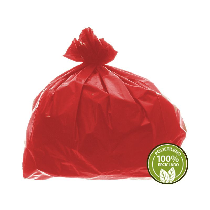 Saco de Lixo 0,025mm 60 Litros Vermelho 100un