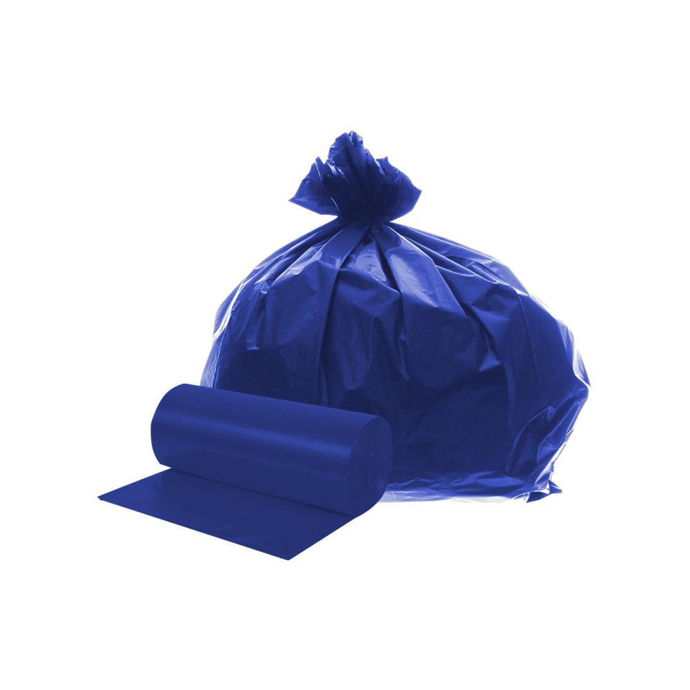 Saco de Lixo em Rolo 100 Litros Azul 20un