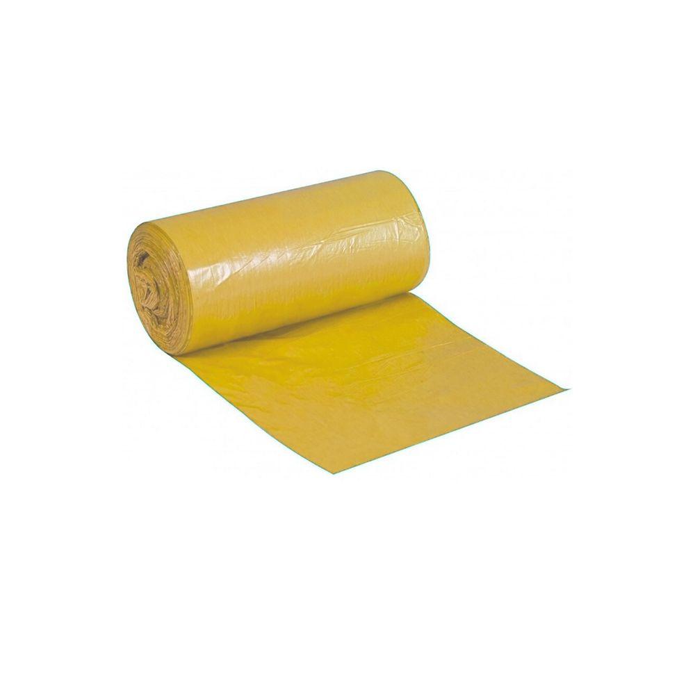Saco de Lixo em Rolo 50 Litros Amarelo 25un