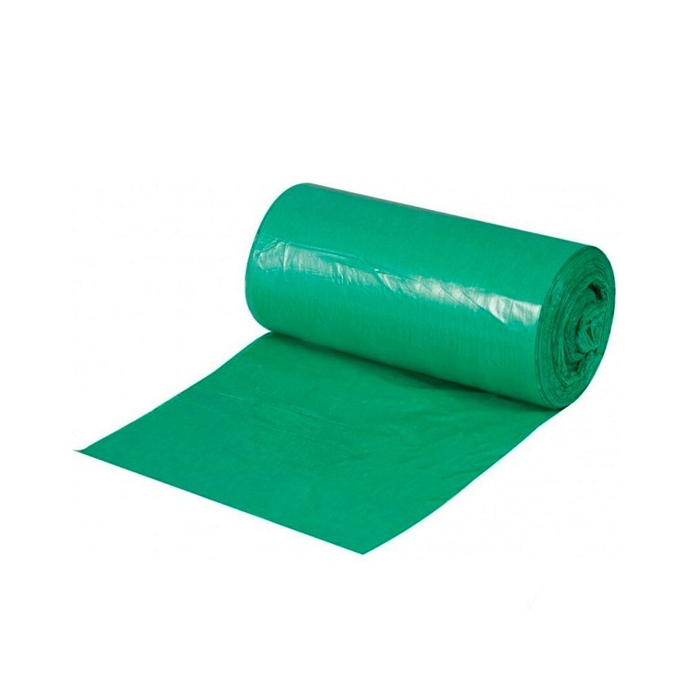 Saco de Lixo em Rolo 50 Litros Verde 25un
