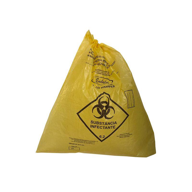 Saco De Lixo Hamper 110 Litros Amarelo 0,040mm 50 Unidades EmbalacFlex