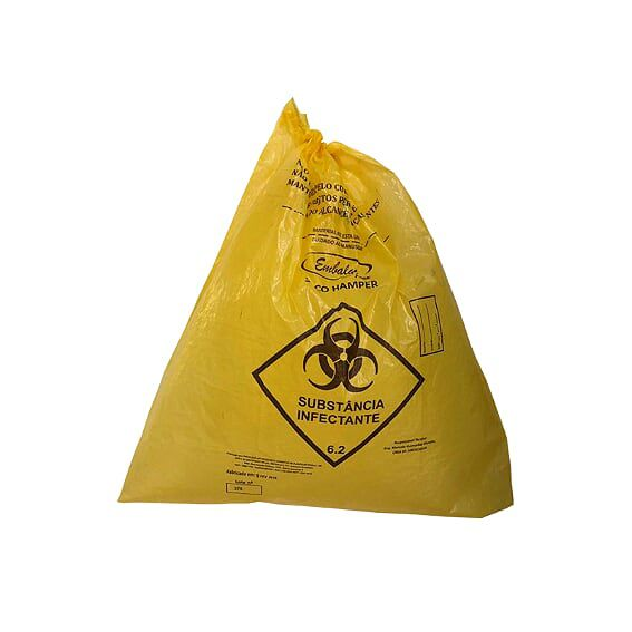 Saco de Lixo Hamper 200 Litros Amarelo 50un