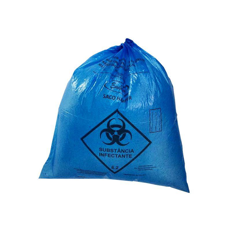 Saco De Lixo Hamper 200 Litros Azul 0,050mm 50 Unidades EmbalacFlex