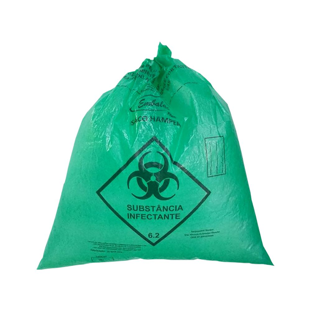 Saco De Lixo Hamper 200L Verde 0,050mm 50un EmbalacFlex
