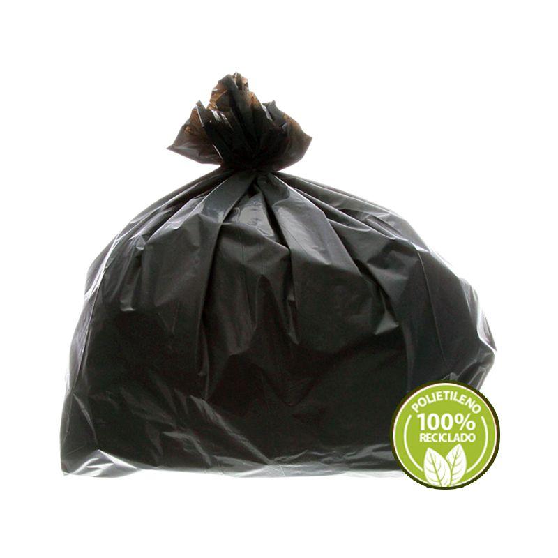 Saco De Lixo Prime Bag 40 Litros Preto 0,02mm 100 Unidades EmbalacFlex