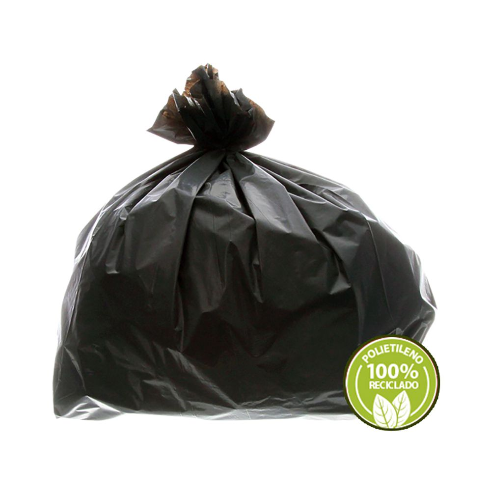 Saco de Lixo Super Leve 60 Litros Preto 100un
