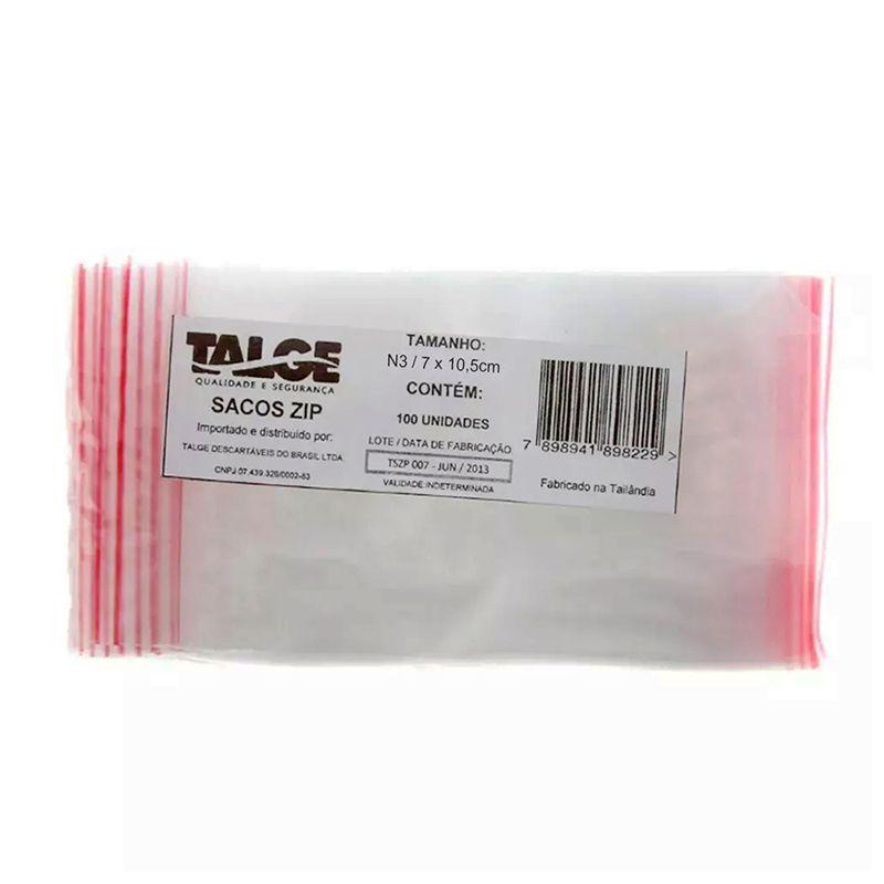 Saco Zip n°3 100un Talge