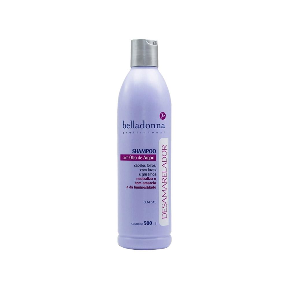 Shampoo Desamarelador Com Argan 500ml Belladonna
