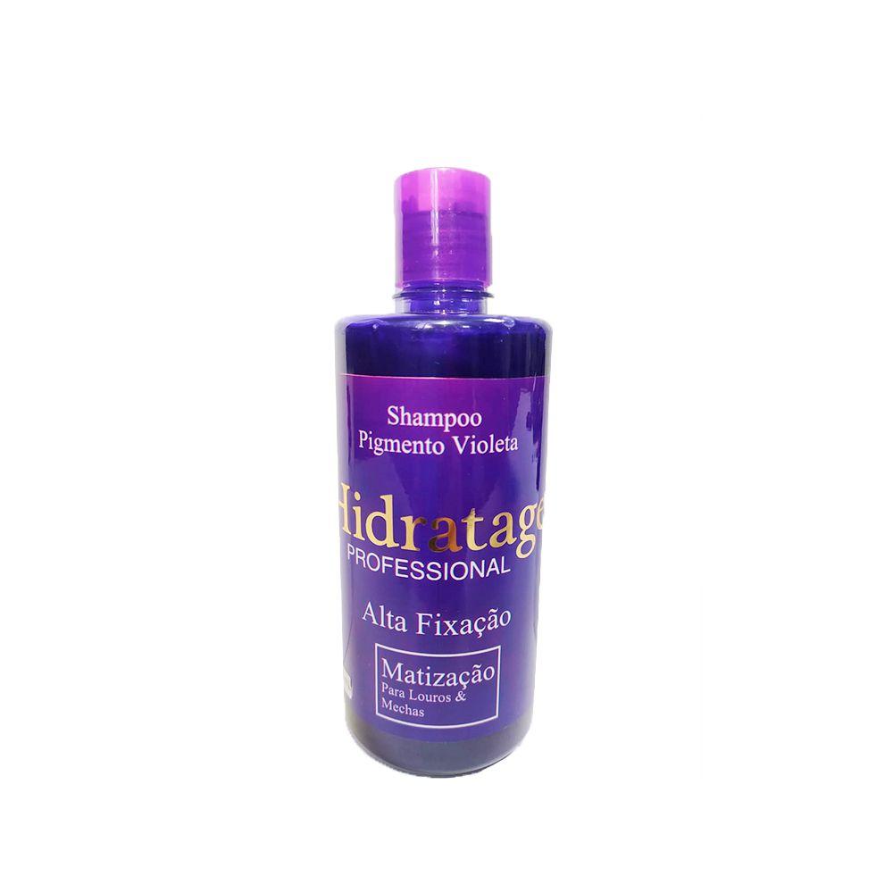 Shampoo Matizador Pigmento Violeta 400ml Hidratage