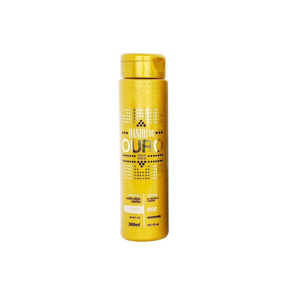 Shampoo Ouro com Argan e D-Pantenol 300g Absoluty