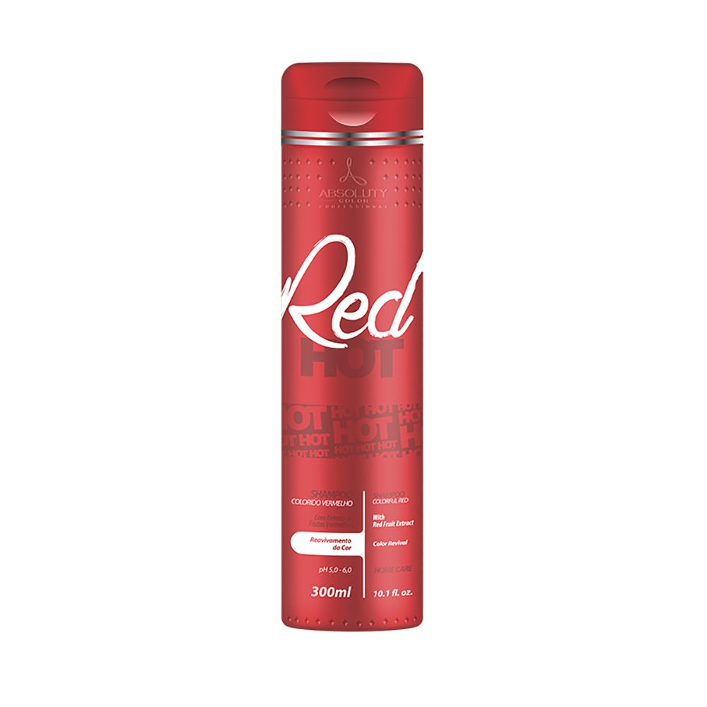 Shampoo Red Hot 300ml Absoluty Color