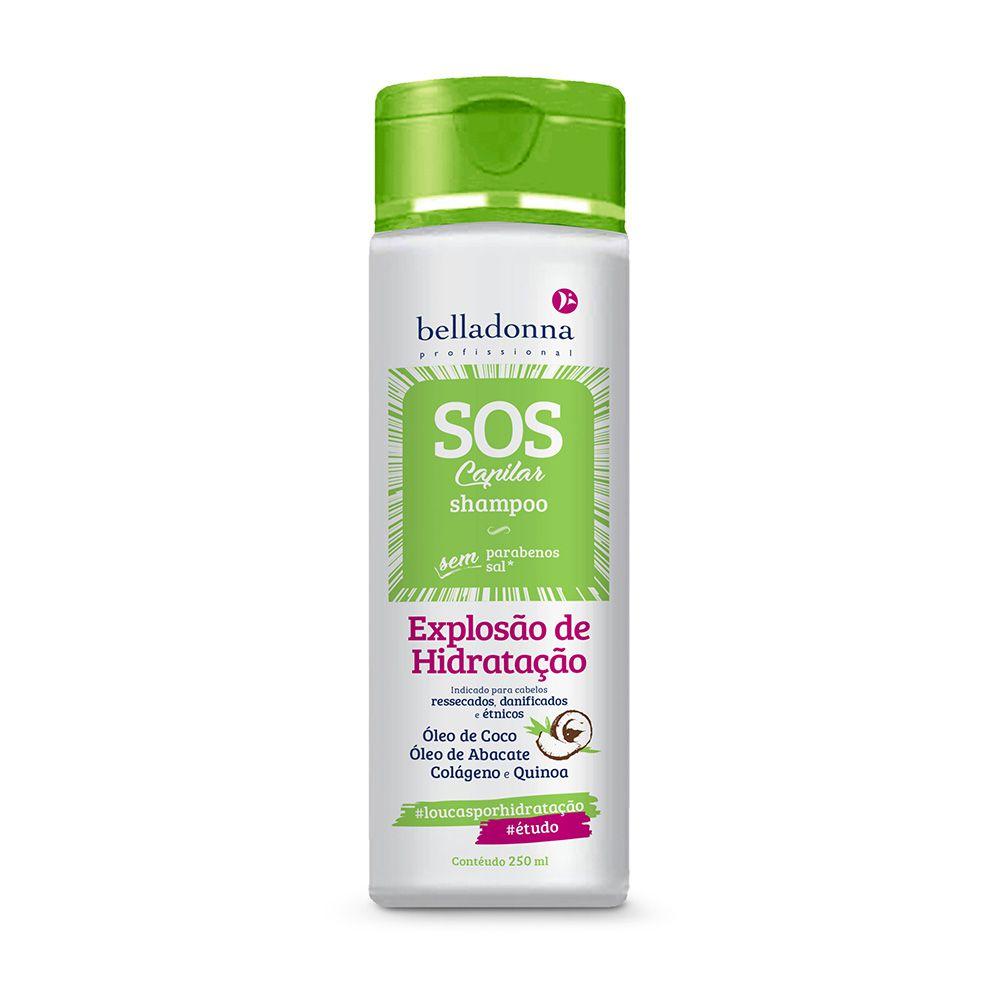 Shampoo SOS Capilar Explosão Hidratação 250ml Belladonna