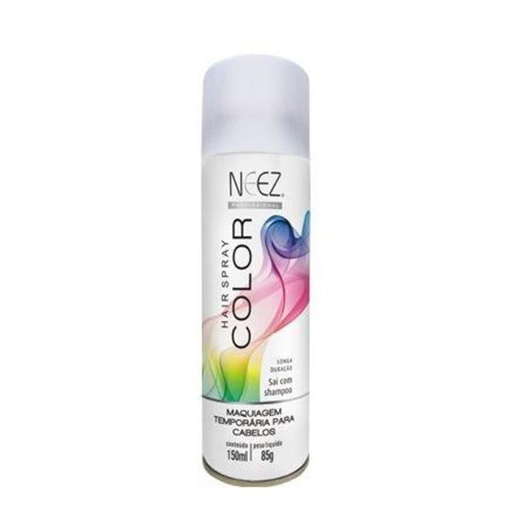 Spray Maquiagem Temporária para Cabelos Glitter Prata 150ml Neez