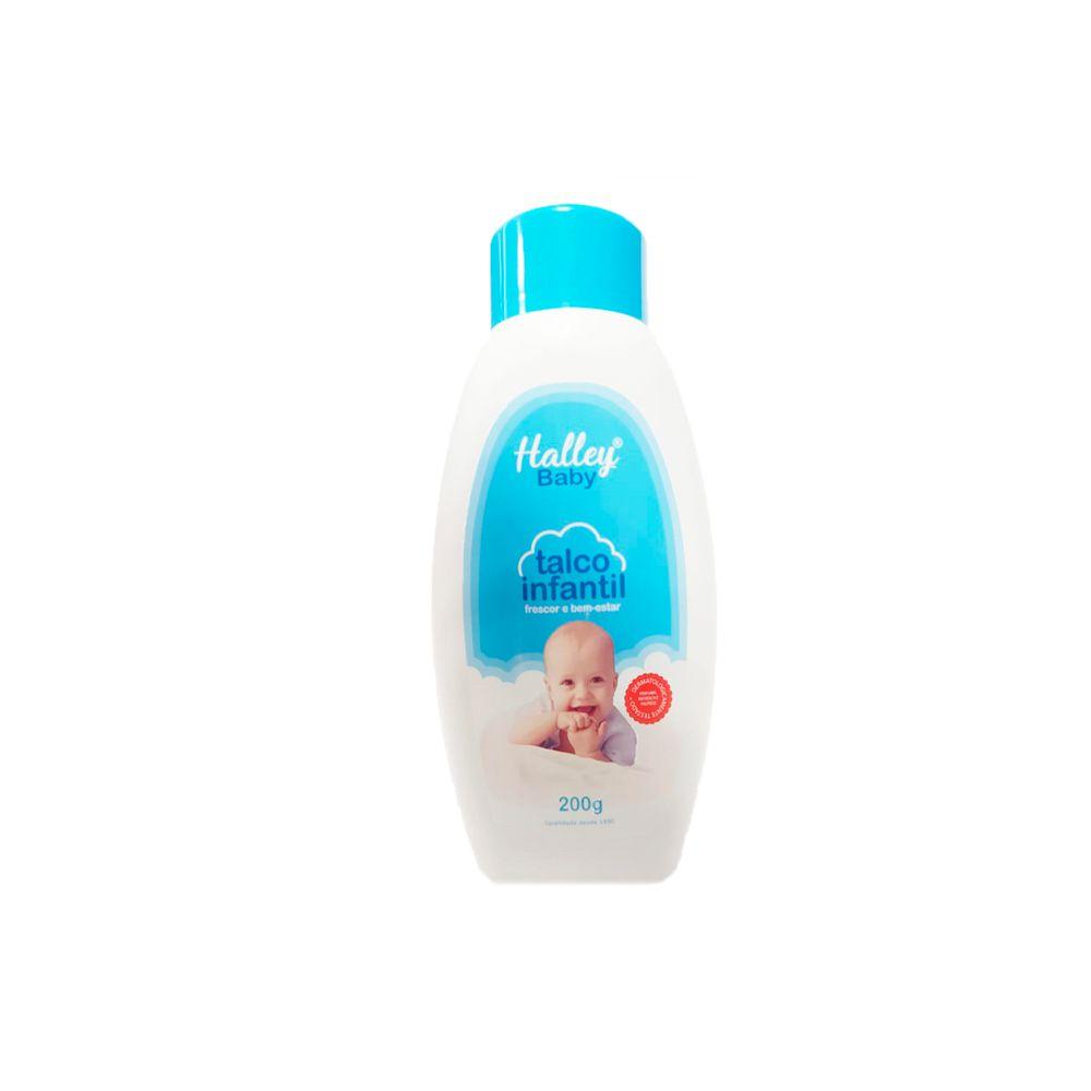 Talco Infantil 200g Azul Halley Baby