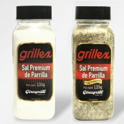 Sal Premium de Parrilla + Sal Premium de Parrila com Pimenta