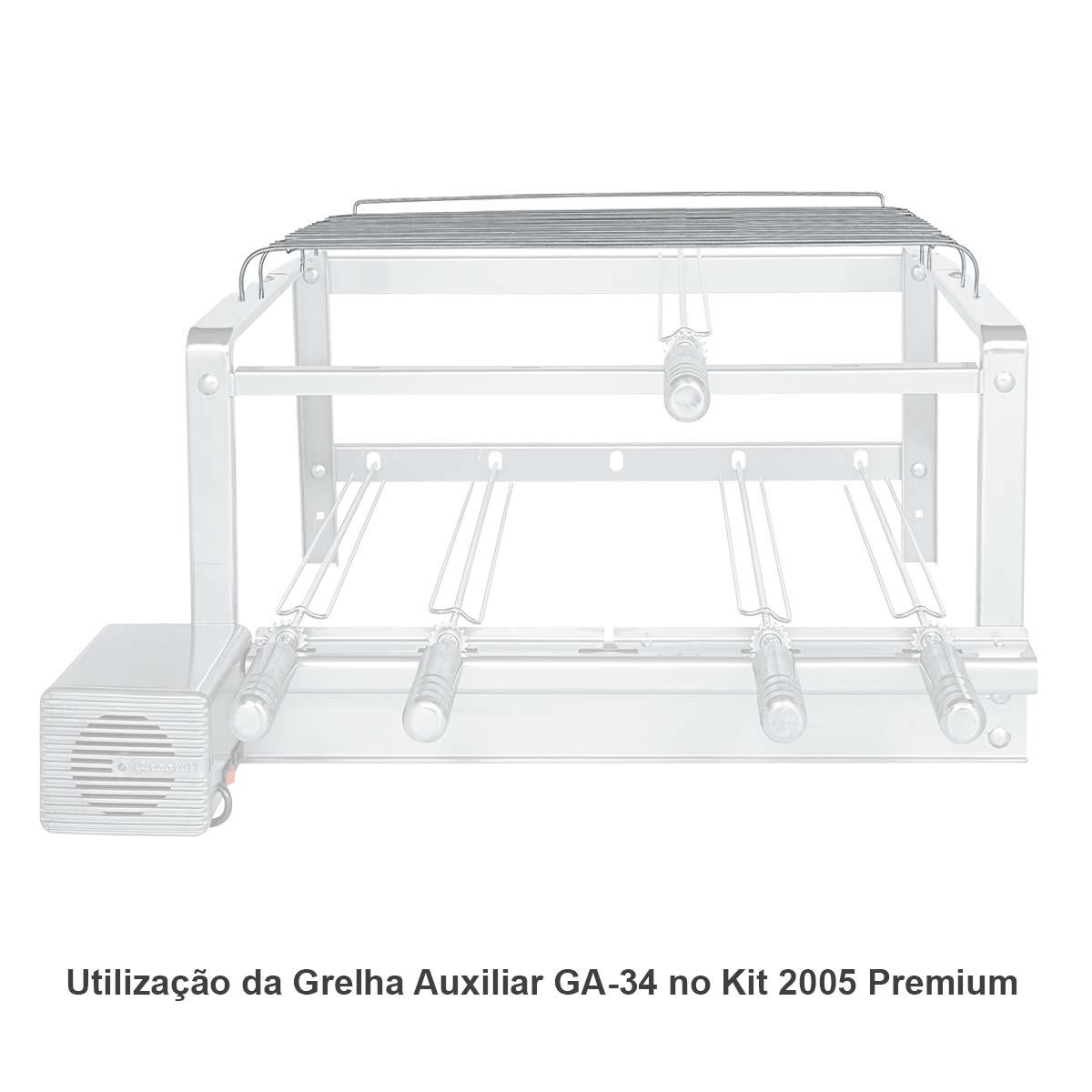 Grelha Auxiliar GA 34 Inox