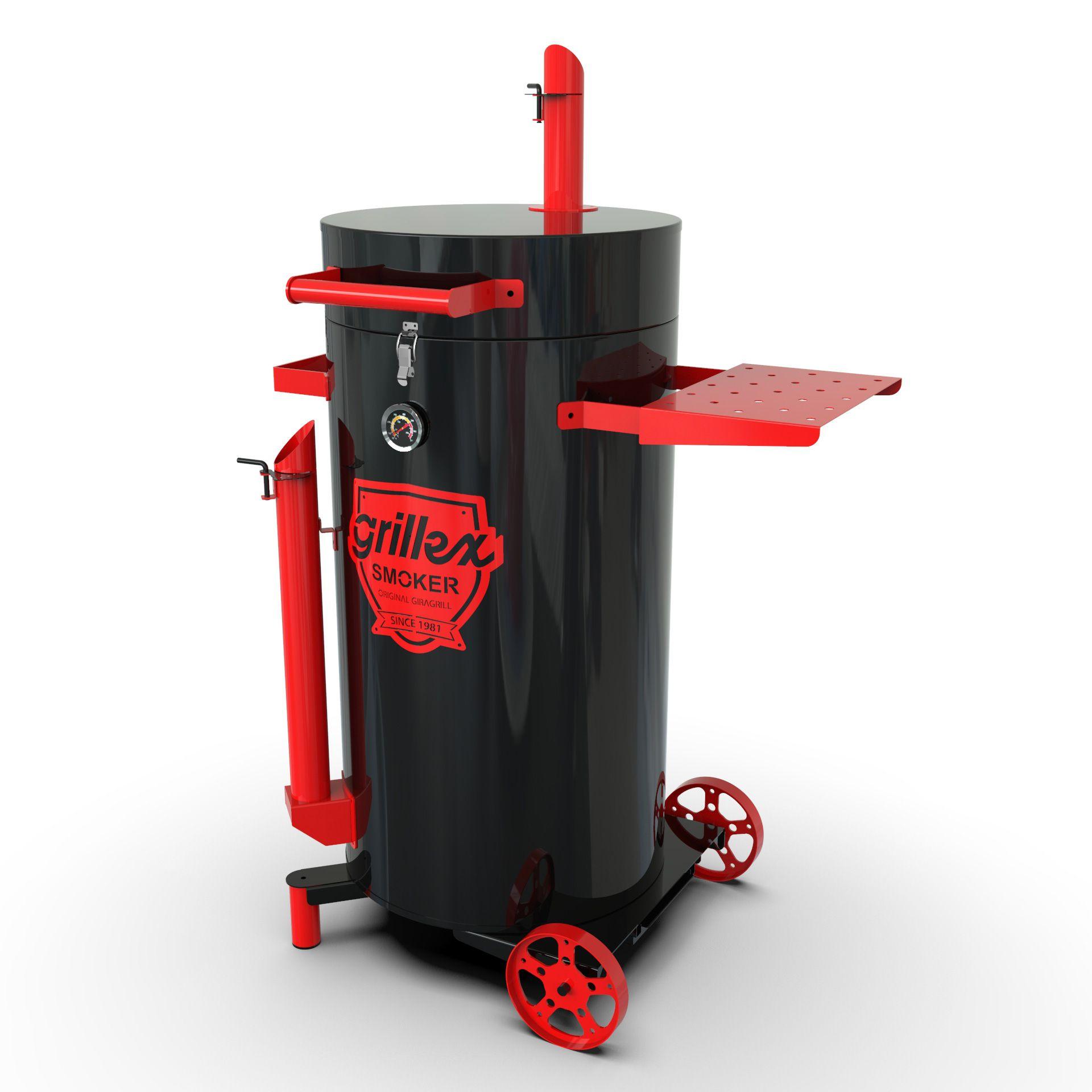 Grillex Drum Smoker Preto/Vermelho