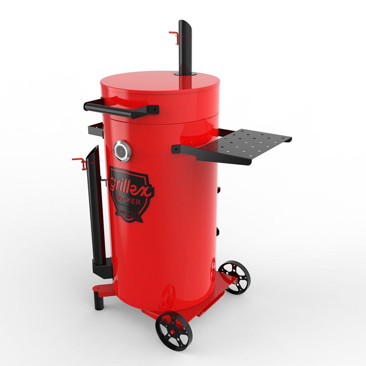 Grillex Drum Smoker Vermelho/Preto
