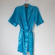 Robe de Cetim Azul Turquesa
