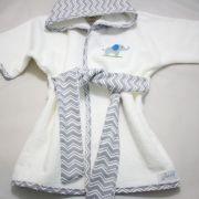 Roupão Baby - Coleção Adam Chevron Cinza - Art Bord