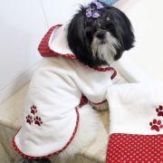 Roupão Dog Spike - Vermelho