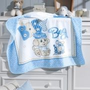 Toalha Capuz Veludo Baby Boy
