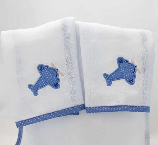 Cj Babinhas  2pçs - Coleção Terk Azul - Art Bord
