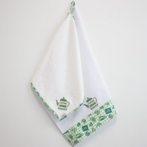Jogo Cozinha Prato e Mão - Bule Verde - Art Bord