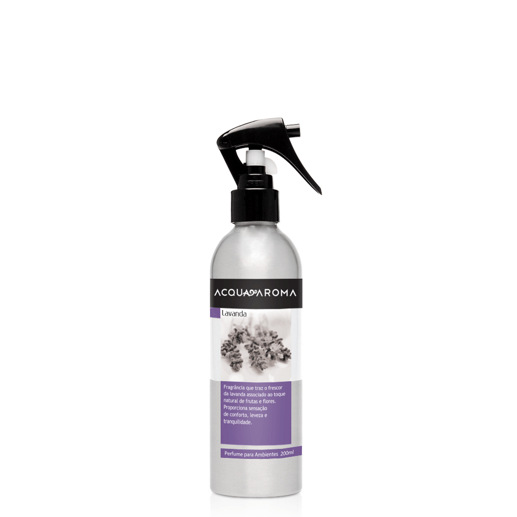 Perfume para Ambientes 200ml Lavanda - Acqua Aroma