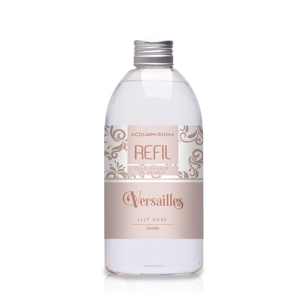 Refil Difusor de aromas Versailles 500ml Lily Rose - Acqua Aroma