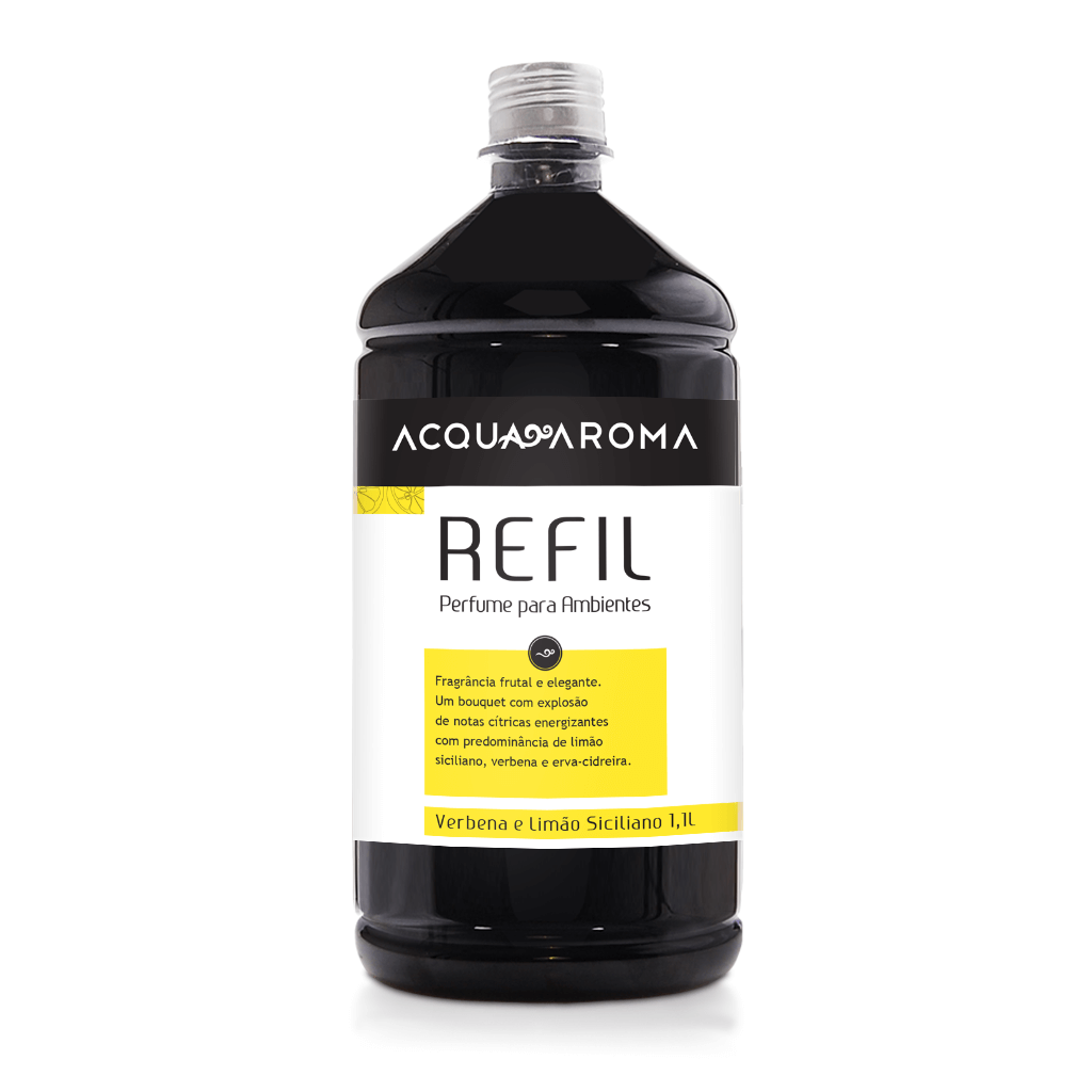 Refil Perfume para Ambientes 1,1L Verbena e Limão Siciliano - Acqua Aroma