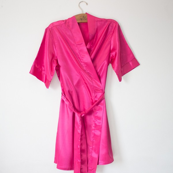 Robe de Cetim Pink